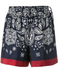 Moncler - Paisley Print Shorts - Lyst