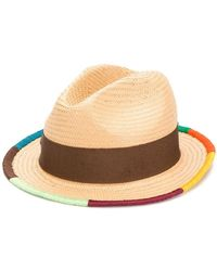 Paul Smith - Artist Stripe Border Plaited Hat - Lyst