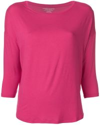 Majestic Filatures - Cropped Sleeves Sweater - Lyst