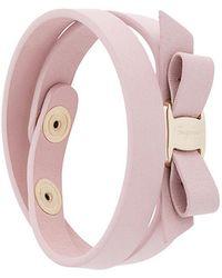 Ferragamo - Vara Bow Double Bracelet - Lyst