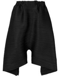 Pleats Please Issey Miyake - Oversized Draped Shorts - Lyst