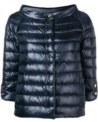 Herno - Quilted Metallic Jacket - Lyst