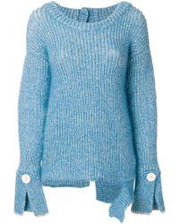 Aviu - Button Cuff Sweater - Lyst