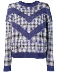 Le Mont St Michel - Checked Jumper - Lyst