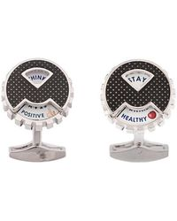 Tateossian - Rotating Message Wheel Cufflinks - Lyst