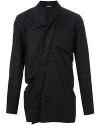 Moohong - High Collar Draped Shirt - Lyst