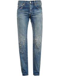 Tu Es Mon Tresor - Stardust Embellished Jeans - Lyst