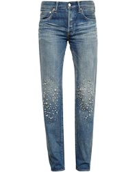 Tu Es Mon Tresor | Stardust Embellished Jeans | Lyst