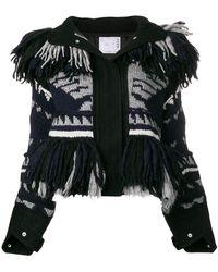 Sacai - Fringed Patterned Jacket - Lyst