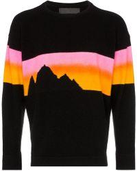 The Elder Statesman - 'Alpine Sunset' Kaschmirpullover - Lyst