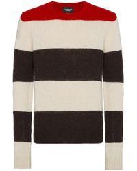 CALVIN KLEIN 205W39NYC - Striped Knitted Jumper - Lyst