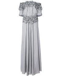 Zac Zac Posen - Maia Floral Embroidered Striped Gown - Lyst
