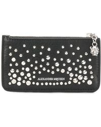 Alexander McQueen - Zippered Card Holder Wallet - Lyst