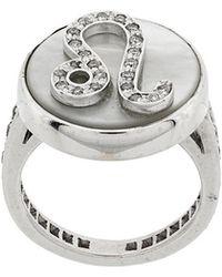 Carolina Bucci - 18kt Gold And Diamond Lucky Leo Zodiac Ring - Lyst
