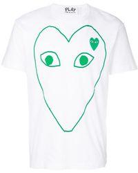 Play Comme des Garçons - Print T-shirt - Lyst