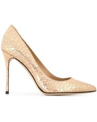 Sergio Rossi - Cracked Leather Godiva Court Shoes - Lyst