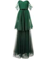 Marchesa notte - Off-the-shoulder Tiered Gown - Lyst