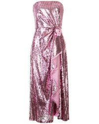 6cadde3afe5 Prabal Gurung - Embellished Strapless Dress - Lyst