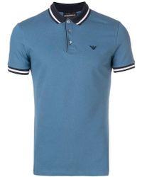 Emporio Armani - Logo Embroidered Polo Shirt - Lyst