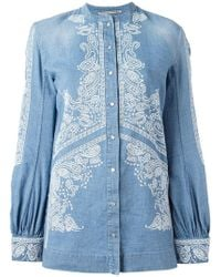 Ermanno Scervino - Embroidered Billow Sleeve Top - Lyst