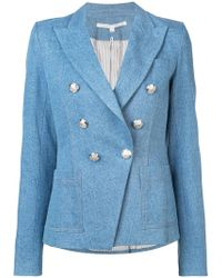 Veronica Beard - Double Breasted Denim Jacket - Lyst