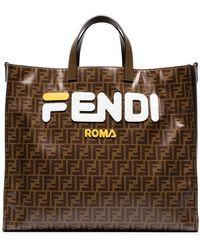 Fendi - Mania Large Logo Tote - Lyst