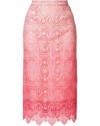 Ermanno Scervino - Lace-embroidered Midi Skirt - Lyst