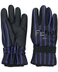 Fendi - Striped Gloves - Lyst