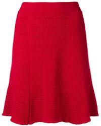 KENZO - Short Ribbed Skirt - Lyst