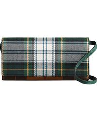 Burberry - Tartan Cotton And Leather Wallet With Chain - Lyst