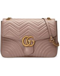 Gucci - Gg Marmont Large Shoulder Bag - Lyst