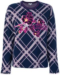 KENZO | Checkered Sweater With Logo | Lyst