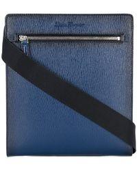 Ferragamo - Textured Crossbody Messenger Bag - Lyst