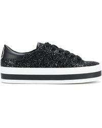 Alice + Olivia - Glittered Sneakers - Lyst