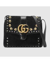 9b53421ddc Lyst - Gucci Black Canvas Crossbody in Black