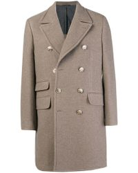 Hackett - Double Breasted Coat - Lyst