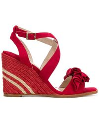 Paloma Barceló - Ruffle Wedge Sandals - Lyst