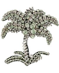 N°21 Embellished Palm Tree Brooch