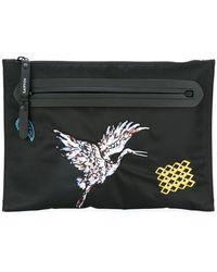 8664b48db1 Lyst - Dolce   Gabbana Cartoon Detail Clutch Bag in Gray for Men