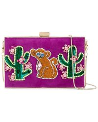 Gedebe - Cactus And Monkey Patch Clutch - Lyst