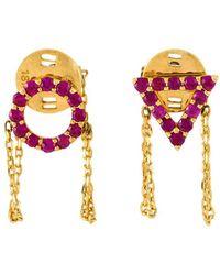 Eshvi - 'july' Ruby Earrings - Lyst