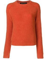 Iris Von Arnim - Ribbed Round Neck Jumper - Lyst