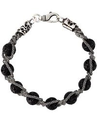Emanuele Bicocchi - Lava Stone Bracelet - Lyst