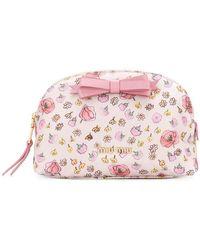 Miu Miu - Floral Print Makeup Bag - Lyst