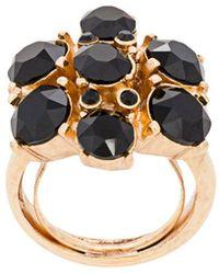 Oscar de la Renta - Gemstone Floral Ring - Lyst