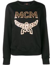 MCM - Embroidered Logo Sweatshirt - Lyst