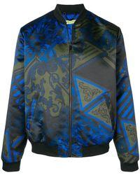 Versace Jeans - Duchesse Print Patchwork Jacket - Lyst