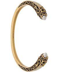 Alexander McQueen - Engraved Skull Cuff Bracelet - Lyst