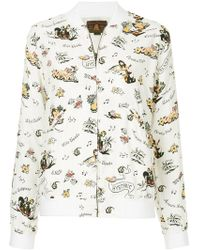 Hysteric Glamour - Floral Print Bomber Jacket - Lyst