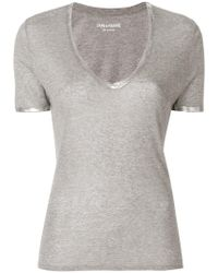 Zadig & Voltaire - T-shirt 'Tino Foil' - Lyst